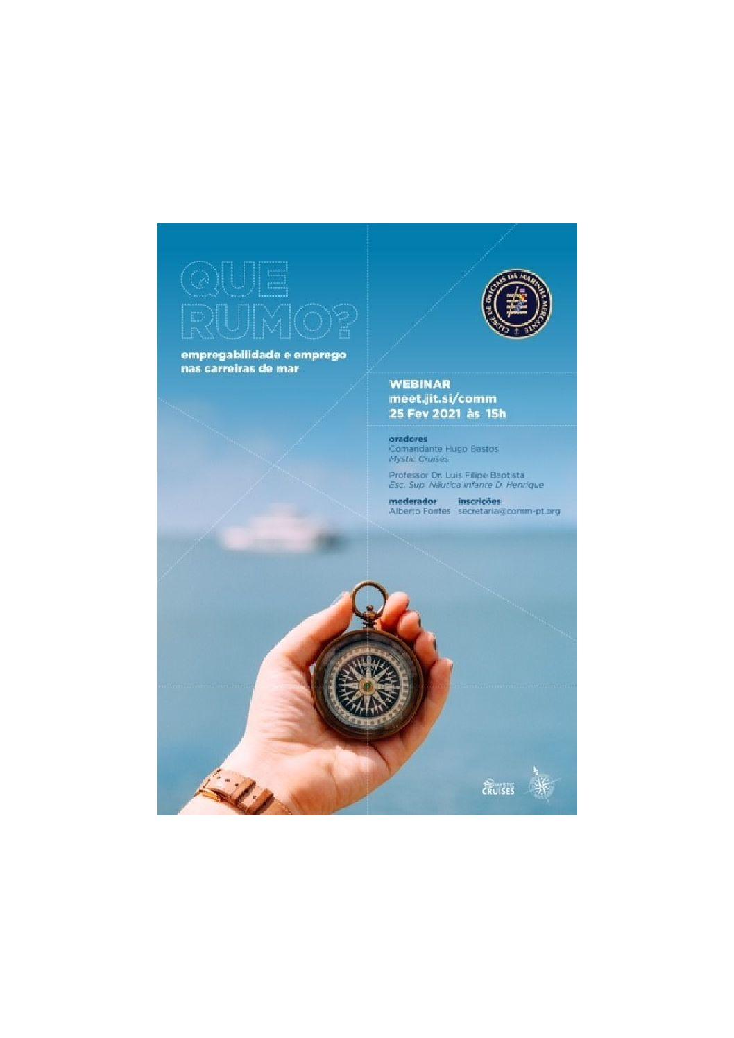 Webinar – Empregabilidade Emprego nas Carreiras do Mar